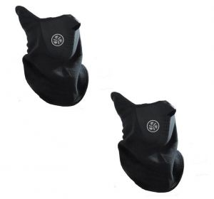 Biker Facemask - Balaclava(black)- Riding Bike Half Face Mask(pack Of 2)