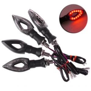 Star Shine Red Pan Amber Motorbike Indicator For Bajaj Discover 150-set Of 4