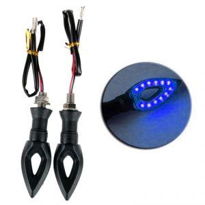 STAR SHINE Blue PAN AMBER MotorBike Indicator For Bajaj Avenger 220-Set of 2
