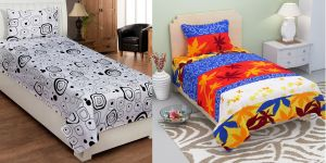 Single Bed Sheets - Bene Cotone Single Printed Bedsheet with 1 Pillow covers ( Set Of 2 )