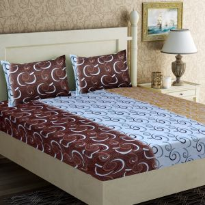 Rg Home Designer Poly Cotton Double Bedseet - Rg-pc-06