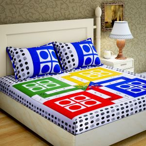 Home Decor & Furnishing - RG Home Designer Poly Cotton Double Bedsheet - RG-PC-07