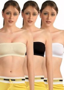 Set Of 3 Seamless Strapless Tube Bra(code- 3tube Bra)