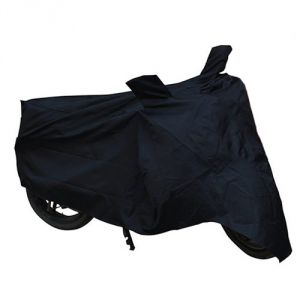 Bike Body Cover Black With Mirror Pocket For Hero Motocorp Passion+