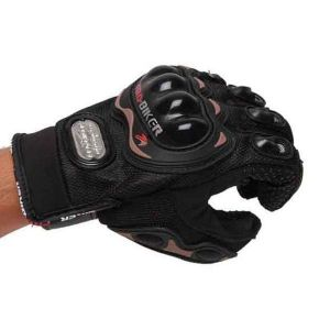 Pro Biker Full Finger Bike Black Gloves