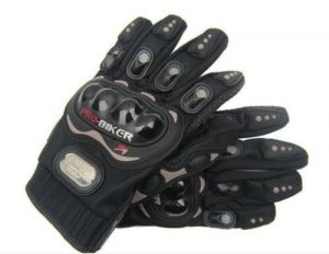 Pro Riding Gloves For Bikers- Black (large Size) 9.5