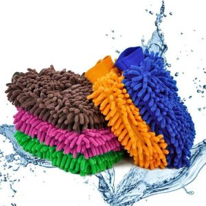 10 Nos Cleaning Washing Microfiber Mitten Glove Car Auto Home Cleaning Wash 10 PCs