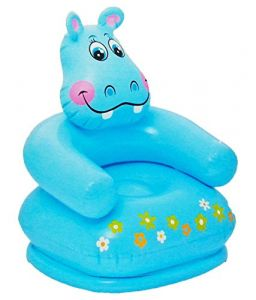 Angels Store Inflatable Animal Air Chair For 3-8 Years Kids, Blue