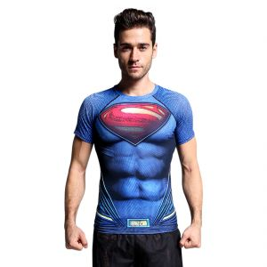 Superman 3d Gym Compression T-shirt By Treemoda (code - Tm_cc_101)