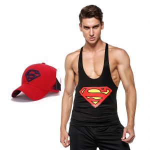 3d Compression Tank Top For Men By Treemoda Comic Collection And 1 Free Superman Baseball Cap (code -tm_cc_cap_combo_9)