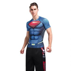 Treemoda Dry Fit Gym Clothing Set Of 3d Compression Tees With Shorts For Workout (code - Tm_cc_combo_101)