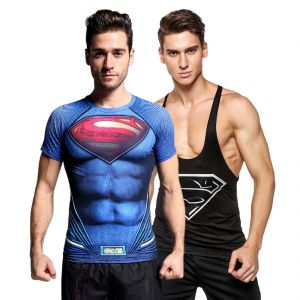 3d Compression Tank Top And Dry Fit Gym T-shirt By Treemoda Comic Collection (code - Tm_cc_combo_107)