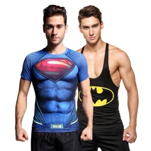 3d Compression Tank Top And Dry Fit Gym T-shirt By Treemoda Comic Collection (code - Tm_cc_combo_108)