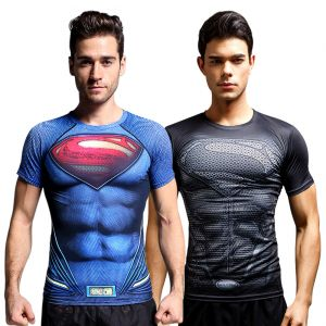 Superman 3d Gym Compression T-shirt By Treemoda (code - Tm_cc_combo_113)