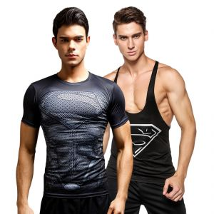 3d Compression Tank Top And Dry Fit Gym T-shirt By Treemoda Comic Collection (code - Tm_cc_combo_115)