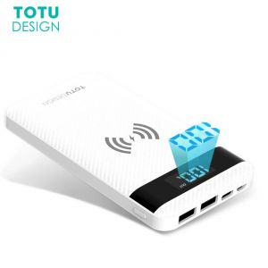 Totu 10000 mAh Wireless Powerbank 2 USB Ports For iPhone X / 8 / 8 Plus Samsung Note 8 S8 S8 Plus
