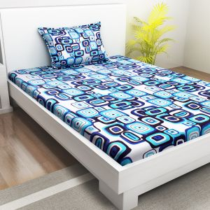Indiana Home 100 % Cotton Single Bed Sheet With 1 Pillow Cover