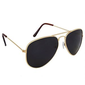 Mways Aviator Unisex Sunglasses (black)
