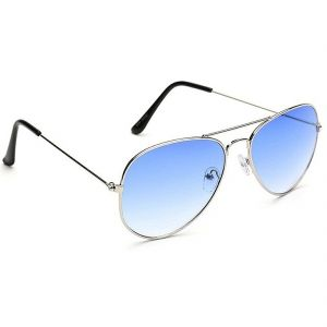 Mways Aviator Unisex Sunglasses (sky Blue)