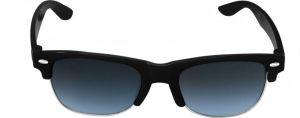 Mways Unisex Rectangular Sunglasses (black)