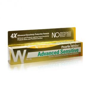 Pearlie White Advanced Sensitive Hypoallergenic Fluoride Toothpaste (4.6oz) 130g (imported)