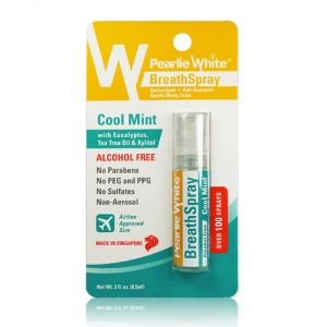 Pearlie White Breathspray Alcohol Free Cool Mint 8.5ml (100 Sprays) (imported)
