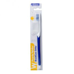 Pearlie White Brushcare Ortho Soft Toothbrush (blue) (imported)