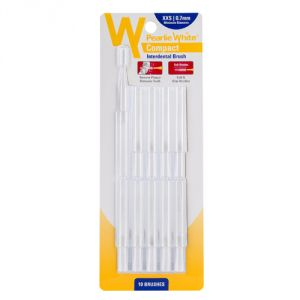 Pearlie White Compact Interdental Brush Xxs 0.7mm Pack Of 10s (imported)