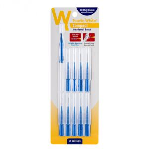 Pearlie White Compact Interdental Brush Xxxs 0.6mm Pack Of 10s (imported)