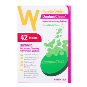 Pearlie White Dentureclean Denture Cleansing Tablets (imported)