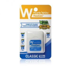 Pearlie White Flosscare Waxed Mint Floss 100m (imported)