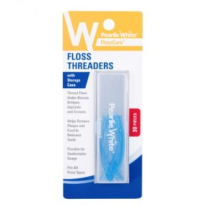 Pearlie White Floss Threaders With Storage Case (imported)
