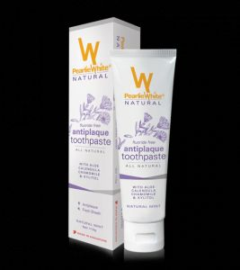 Pearlie White Natural Antiplaque Toothpaste (3.8oz) 110gm (imported)