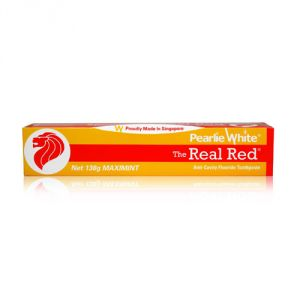 Pearlie White The Real Red Anti-cavity Fluoride Toothpaste (4.8oz) 138g (imported)