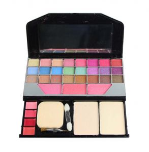 Babble Color Series 24-eyeshadow, 3-blusher, 2- Powder Cake , 2 Brushes 4 Lip Colors