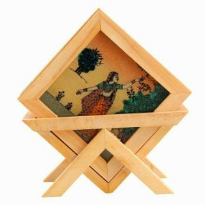 Tableware - Arts Of India Wooden Square Coasters With Stand- Pack of 6 (Code - SEPTC6-S)