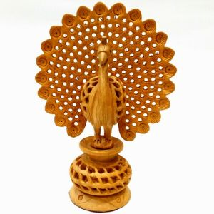 Arts Of India Wooden Handcrafted Dancing Peacock (code - Sepow6)