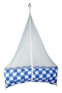 Jaze Baby Jhula Cradle With Baby Essential Freebie Set - Blue Apple