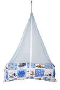 Cribs & cradles - Jaze Baby Jhula Cradle with Baby Essential Freebie Set - Blue Bear
