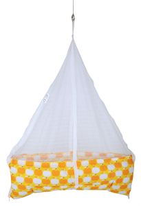 Jaze Baby Jhula Cradle With Baby Essential Freebie Set - Yellow Apple