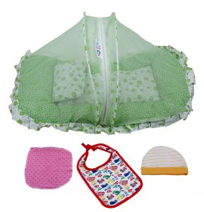 Bedding sets - Jaze Baby  Mosquito Net Bed with Baby Essential Freebie Set - Lovely Green