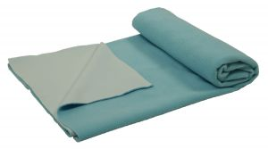 Jaze Baby - Dry Sheet Bed Protector With Baby Essential Freebie Set - Size Medium - Sky Blue