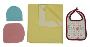Jaze Baby - Dry Sheet Bed Protector With Baby Essential Freebie Set - Size Large - Yellow