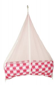 Jaze Baby Jhula Cradle With Baby Essential Freebie Set - Pink Apple