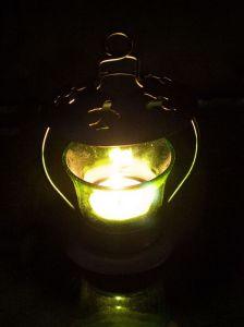 Anasa Green Iron Votive Tealight Candle Holder