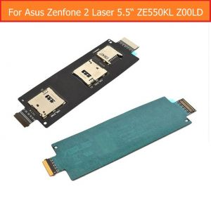 Dual Sim Card Tf Memory Flex Connector Set For Asus Zenfone 2 Ze550ml