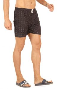 Boxers (Men's) - Mr. Stag Men's Brown Cotton Printed Boxer (Code - BOXER 004)