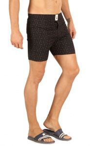 Boxers (Men's) - Mr. Stag Men's Black Cotton Printed Boxer (Code - BOXER 005)