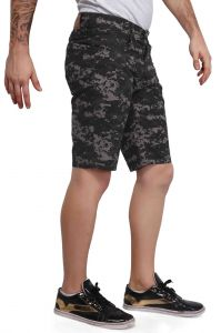 Shorts (Men's) - Mr. Stag Men's Black Printed Cotton Shorts (Code - SHORTS NG011)