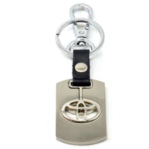 Faynci Premium Quality Swinging Toyota Logo Keychain With Chrome Metal Locking Key Chain